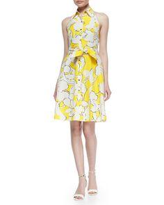 Floral-Print Tie-Waist Dress at CUSP.