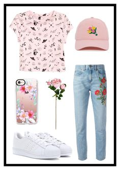 """""""#709 flowers"""" by xjet1998x ❤ liked on Polyvore featuring Gucci, H&M, adidas and Casetify"""