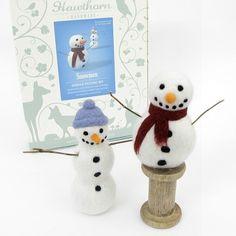 Needle Felting Kit - Snowmen