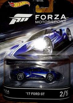 HOT WHEELS 2016 RETRO ENTERTAINMENT FORZA #2/5 '17 FORD GT #HotWheels #FORD