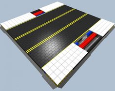 Lego Road, Cool Lego, Awesome Lego, Road Pictures, Lego Display, Road Train, Lego Projects, Custom Lego, Mosaic Designs