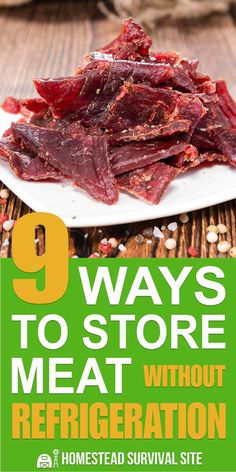 There are many ways of preserving meat without electricity and are feasible for people with root cellars and people living in inner city apartments. apartment 9 Ways to Store Meat Without Refrigeration - Homestead Survival Site Survival Food Kits, Emergency Food Supply, Emergency Preparation, Homestead Survival, Survival Prepping, Survival Skills, Survival Supplies, Emergency Preparedness, Survival Hacks