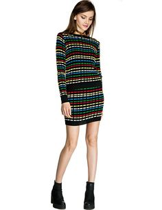 Rainbow Knit Mini Skirt  $55.00