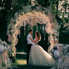 AMAZING wedding arch!!