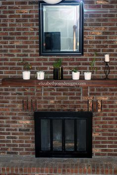 I love the warmth that bricks provide, but the color was not meshing with the rest of the room. We decided to mute the color a bit by whitewashing. Fireplace Remodel, Family Room, White Wash Brick, White Wash Brick Fireplace, White Wash, Wall Colors, Brick, Brick Wall, Fireplace