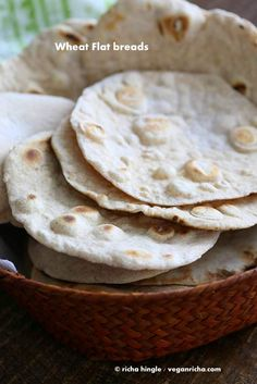 How to make the best vegan yeast free flatbread. Easy, homemade, dairy-free, whole grain & comes together quickly. Puff as pita bread. Soy-free No Yeast recipe Indian Food Recipes, Vegetarian Recipes, Cooking Recipes, Healthy Recipes, Free Recipes, Healthy Breads, Healthy Eating, Menu Vegan, Vegan Snacks