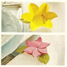 Fai-da-te pasquale: Portatovagliolo-segnaposto con fiorellino