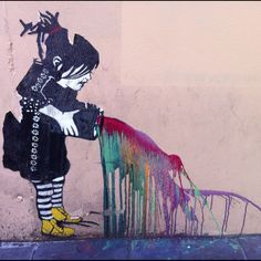 Cute little picture I found in the streets of Melbourne. Though it looked a but Banksy-ish