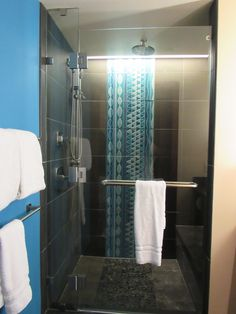 Walk in shower enclosures come in different shapes like rectangular, oval and curved to cater to every individual's shower needs. Walk In Shower Enclosures, Shower Units, Have A Shower, Shower Inspiration, Interior Garden, Colour Board, Shower Heads, Keep It Cleaner, Colorful Interiors
