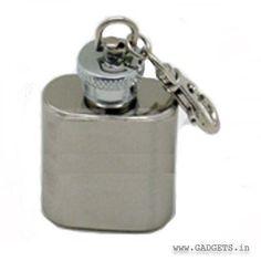 Hip flask key ring 1 oz