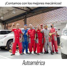 Ellos hacen parte de los mecánicos de nuestro taller especializado #Autoamérica. Tienen todo el carisma y ponen todo su empeño para que tu #Toyota quede impecable y funcionando al 100%.