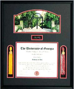 UGA Diploma Frame wi