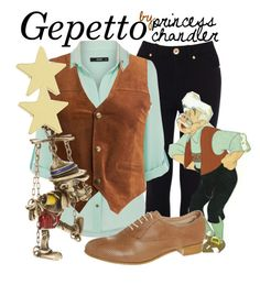 """""""Gepetto"""" by princesschandler ❤ liked on Polyvore featuring Oasis, Disney Couture, KING and Jennifer Meyer Jewelry"""