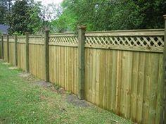 solid privacy PT wood w lattice