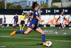 Lieke Martens of FC Barcelona in action during the Liga Femenina match between Valencia CF Women and FC Barcelona Women at Francisco Puchades Stadium on February 25, 2018 in Valencia, Spain.