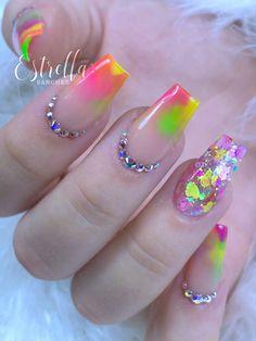 Short Nails, Nails Design, Summer Nails, Acrylic Nails, Beauty, Fingernail Designs, Beleza, Cosmetology, Acrylic Nail Art