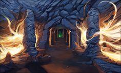 fantasy environment caves - Google Search