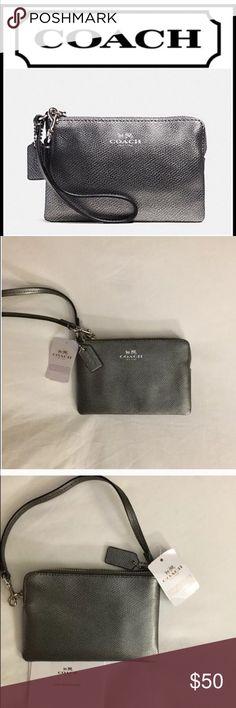Spotted while shopping on Poshmark: ❌FIRM❌Coach Silver Gunmetal Wristlet! #poshmark #fashion #shopping #style #Coach #Handbags