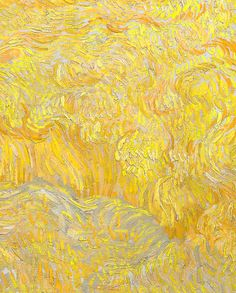 Detail of Wheatfield With a Reaper byVincent van Gogh, 1889 #LoveArt - #Art #LoveArt https://wp.me/p6qjkV-6mq