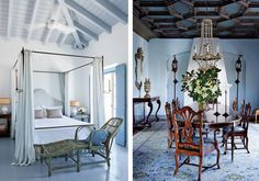From antique Italian decor to Greco-Roman patterns, today's take on Mediterranean design has us wondering if this timeless trend can ever go out of style. Cabin Design, House Design, Light Blue Curtains, Elegant Dining, Tuscan Style, Architectural Digest, Girls Bedroom, Farmhouse Style, Interior Design