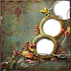 Cadre automne - Autumn frame png - Marco otoño - QP