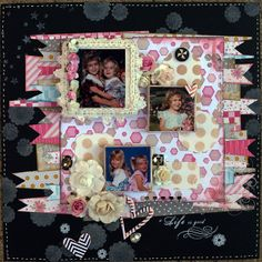 Project by Anita Scroggins  Multi Canvas Mixed Media Project - Frosted Designs using Cosmo Cricket