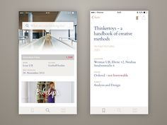 Hey, this shot is from a project I made for university. The existing iOS app of the university's library is really bad so I redesigned it. The project is still WIP, it will later be done as a Marv...