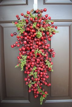 Swag Wreath - Christmas Berry Red Something different than a wreath for the front door