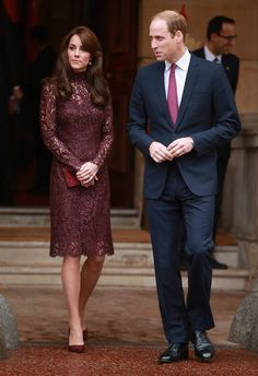 Duchess Kate Wows In A Gorgeous Purple Dolce & Gabbana Dress