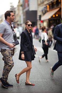 Olivia Palermo - leopard. I also admire the guy she's with for being brave enough to wear those pants.