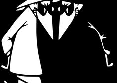 Remember the old Spy vs. Spy comics (and later, the cartoons)? Visual Puns, Mad Magazine, Twisted Humor, Vinyl Cutting, Comic Strips, Spy, Comic Art, Old Things, Batman