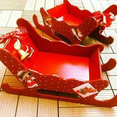 El işi boyama Yeniyıl Noel Baba Kızak Ahşap Kutu | Bebek | ||| 3AAA Bebek şekeri ve Nikah şekeri toptan malzemeleri Eminönü |||: