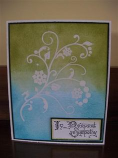 Sympathy Card by crazykim - Cards and Paper Crafts at Splitcoaststampers