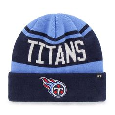 the latest b3a67 21b81 Tennessee Titans Rift Cuff Knit Periwinkle 47 Brand Hat