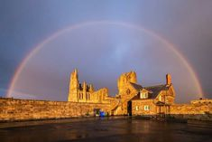 Rainbow over Whitby Abbey, North Yorkshire Whitby Abbey, North Yorkshire, Monument Valley, New York Skyline, Coast, Louvre, Building, Nature, Photography