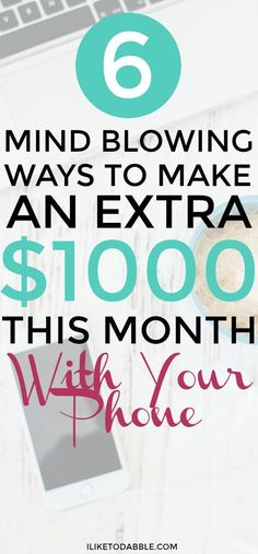 Make an extra $1000 this month with your phone. Make money using your smartphone. Make money in your spare time. Make money online. Side hustle. Side gig. Make extra money to save. #makemoneyonline #sidehustle #sidegig #moneymakingapps #makemoneyonyourphone #makemoney #savemoney #financialfreedom #retireby40 #earlyretirement