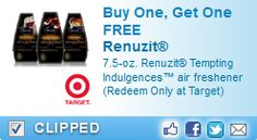 New BOGO FREE Renuzit Coupon! Just $0.24 Cents at Target!