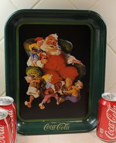 Coca Cola Tray, Coke Santa Serving Tray, Advertisment. $17.00, via Etsy.