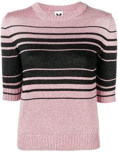 Moderne Damen Pullover In Patentstrick Grau