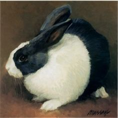 Famous+Rabbit+Paintings | rabbits painting female silver and white french lop eared rabbit jane ...