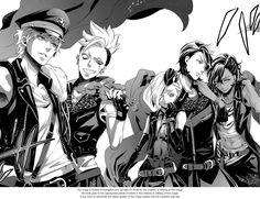 The Phantom Five! Edward Middleford, Cheslock, Joanne Harcourt, Clayton & Soma - Kuroshitsuji