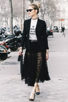 Want to know how to wear a sheer dress in the winter? Get some inspiration from fashion girls.