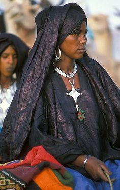 Africa |  Tuareg woman photographed In Niger by Flickr user deepchi1