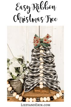 DIY Burlap Ribbon Christmas Tree – Lizzy & Erin