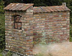 Ziegelsteinmauer aus Barockformatziegeln