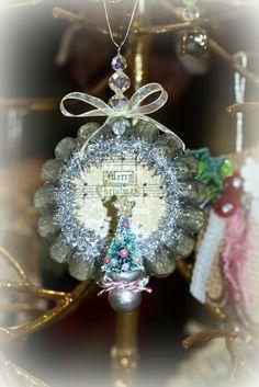 Handmade Vintage Tart Christmas Ornament