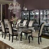 Find Aico Hollywood Swank Sn Black And Silver Dining Room Set At