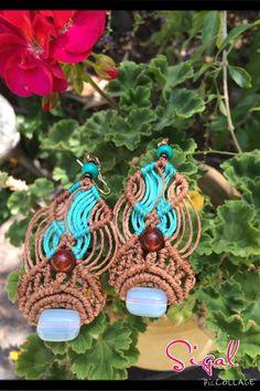 Micro macrame earrings by SigalBali on Etsy