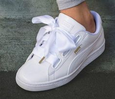 The All-New PUMA Basket Heart Is Topped With a Satin-Bow  Celebrating girls  who want a delicate touch on sporty. a401ea389abea