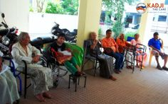 Chit chat with residents